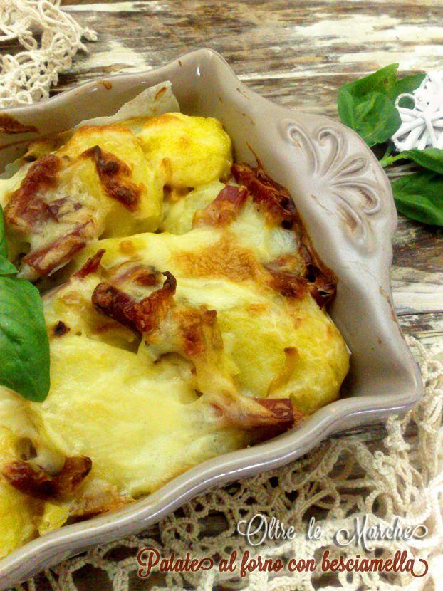 Patate al forno con speck,  Contorni al forno, contorni di patate, contorni gratinati, contorni saporiti, frittata di verdure,