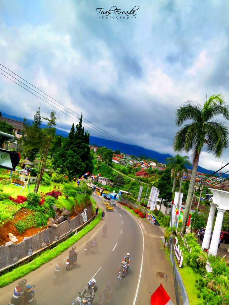 street, mountain, tree, nature, landscape, grass, green, blue, motorcycle, sky, cloud, fresh, tuah ersada, HDR photography