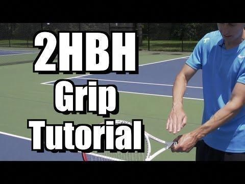 Two Hand Backhand Grip Tutorial Tennis Lesson Grip Instruction Tennislessons Learntennis Tennis Lessons Tennis How To Play Tennis