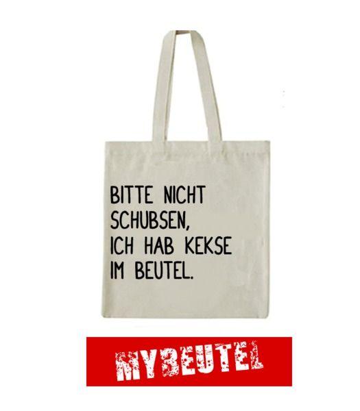 KEKSE  Jutebeutel Natur von MyBeutel auf DaWanda.com - Please don`t push, I got cookies in my bag.