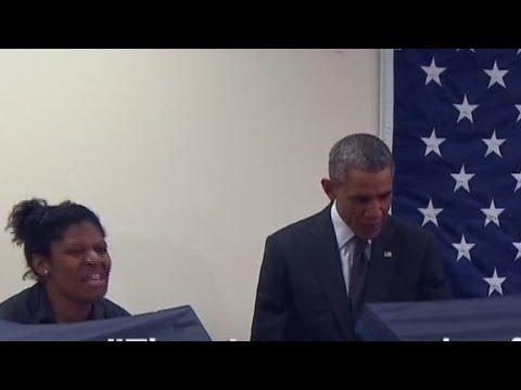 President responds to voter who asks him not to touch his girlfriend in a very charming way
