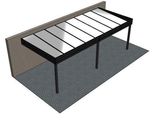 Carport aluminium adosse TALIS 6 x 3.5 m