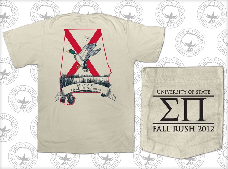 sigma pi rush shirt by the southern shirt company g phi