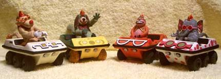 Banana Splits   Amphicat was a six-wheel-drive, skid steer amphibious all-terrain vehicle manufactured in the late 1960s through the early 1970s by Mobility Unlimited Inc.