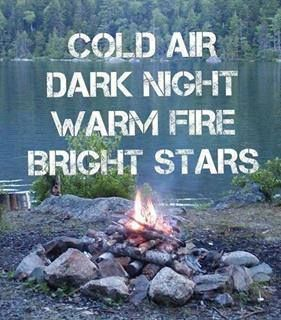 Fall is a great season for camp fires! This is what I am looking forward to. Hopefully the rain will be minimal or hold out! Fingers crossed!