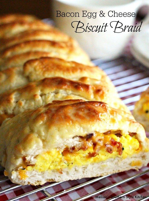 Bacon, Egg, and Cheese Biscuit Braid   Community Post: 21 Creative Ways To Eat Eggs For Breakfast