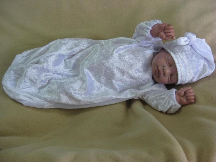 Sleeping Bag and Hat -Fits 15-17 inch Reborn Doll - Hand Made Doll Clothing