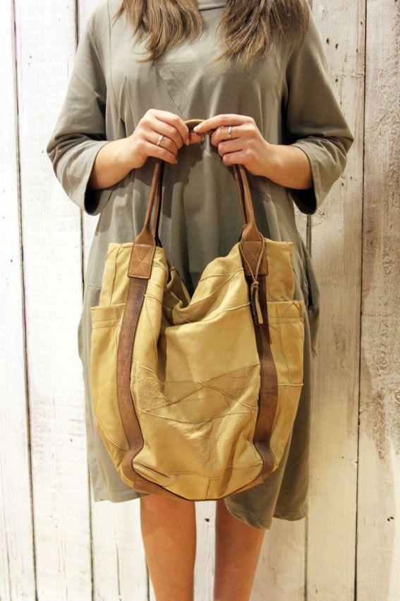 Borsa in pelle vintage patchwork JUNGLE BAG 3 di LaSellerieLimited