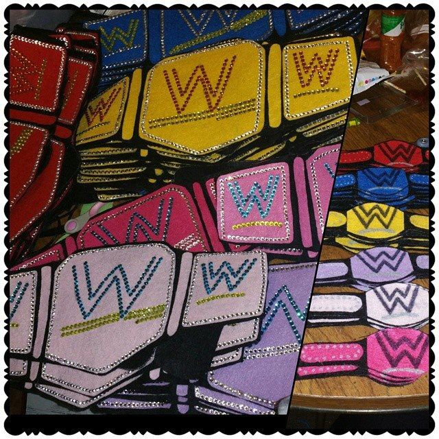Diy Wwe Belts And Bracelets For A Wwe Themed Party