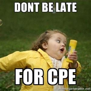 dont be late for cpe   Little girl running away