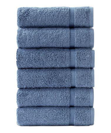 Blue Hand Towel - Set of Six #zulily #zulilyfinds