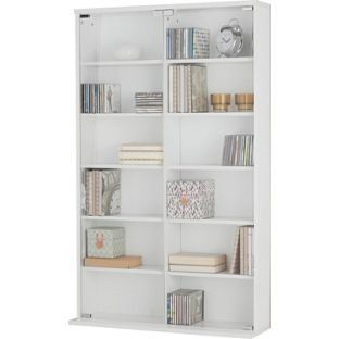 Buy Media Storage Unit with Glass Door - White at Argos.co.uk, visit Argos.co.uk to shop online for CD, video and DVD storage