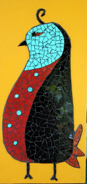 Mosaic Stained Glass Chicken | Flickr