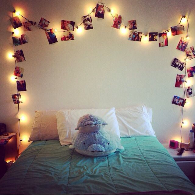Cute and easy room decor with lights