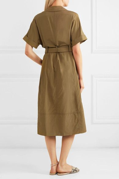 Belted Cotton-poplin Midi Dress - White Barbara Casasola oHz1zvcEx