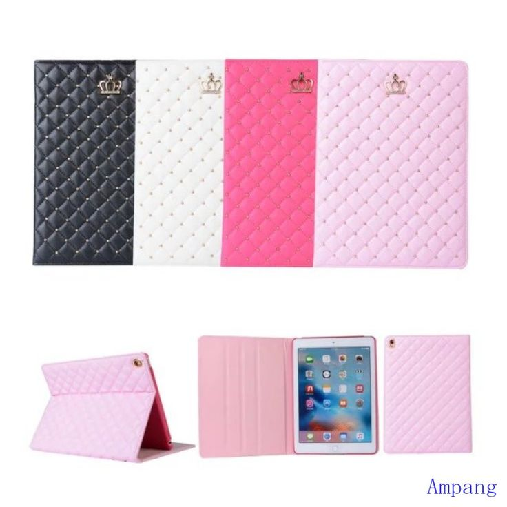 Women Luxury Diamond Cover for Apple iPad Pro 9.7 Case PU Leather Smart Cover Bag for iPad Pro Case 9.7