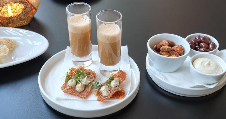 Hummersuppe og snack på Restaurant Varna