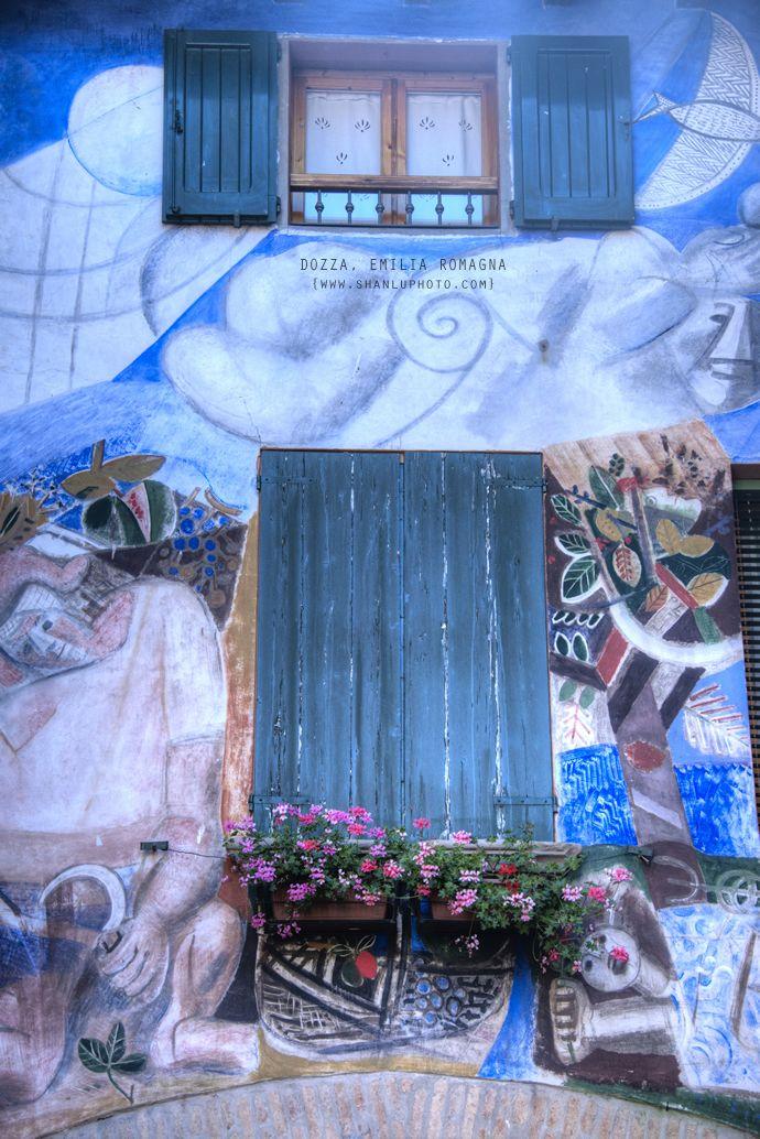 【意大利艺术小镇】壁画中的美丽生活。Dozza (BO) by @bjlulu