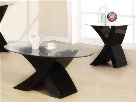 Pervis Black Coffee Table Set