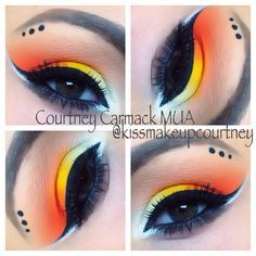 candy corn makeup tutorial - Google Search