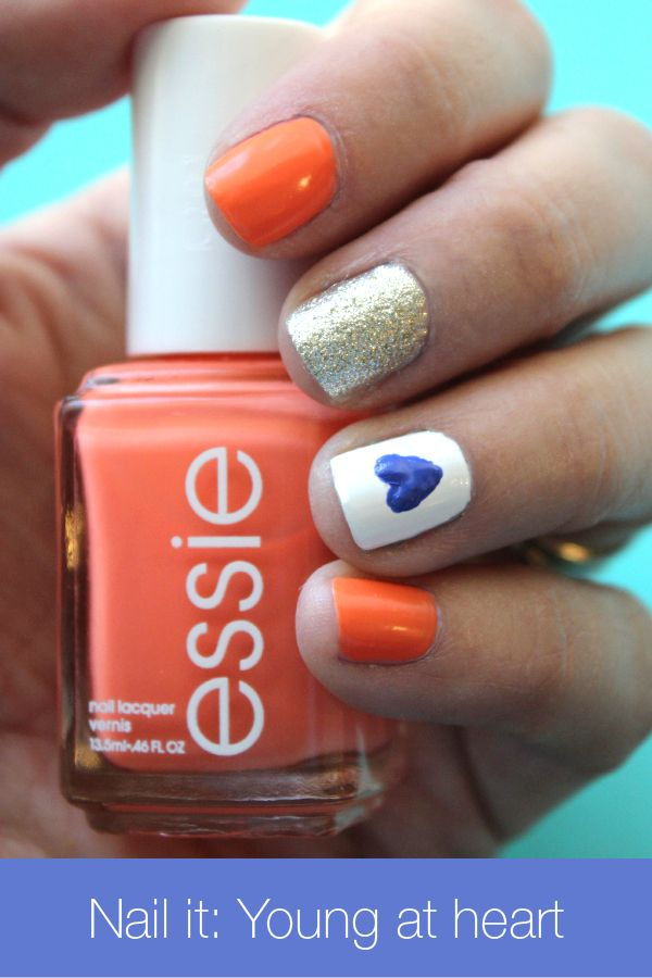 Beauty blogger Ashley Brooke shows you how to nail this quick, easy look! Learn how to paint a teeny, connect-the-dots heart and update your fall mani in a few easy steps!