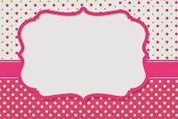 Pink, Green and White Polka Dots: Free Printable Invitations.