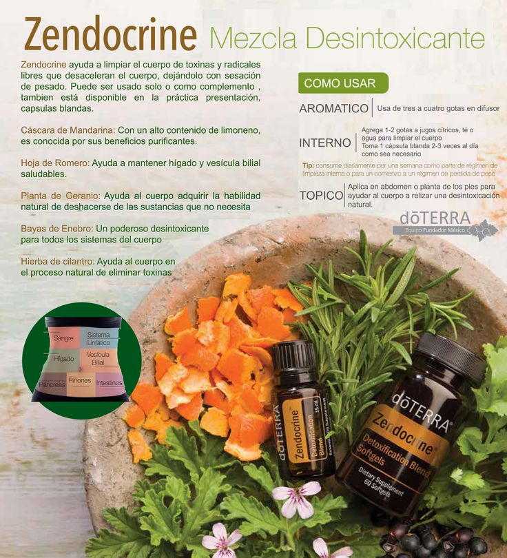 #Desintoxica tu cuerpo naturalmente con #zendocrine de #doterra Aquí te presentamos sus componentes #naturales