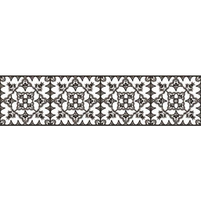 York Wallcoverings Bp8228bd Border Portfolio Ii Tangier Border White Black The Savvy Decorator Wallpaper Border York Wallpaper Wall Coverings