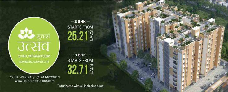Suvaas Utsav 2 & 3 BHK Flats at Patrakar Colony Mansarovar Extension Jaipur