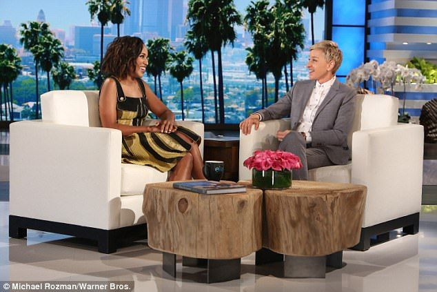 Gratitude: Kerry Washington swung by The Ellen DeGeneres Show and confided that 'I send my parents a gift on my birthday, because I feel like they did the heavy lifting, right?'