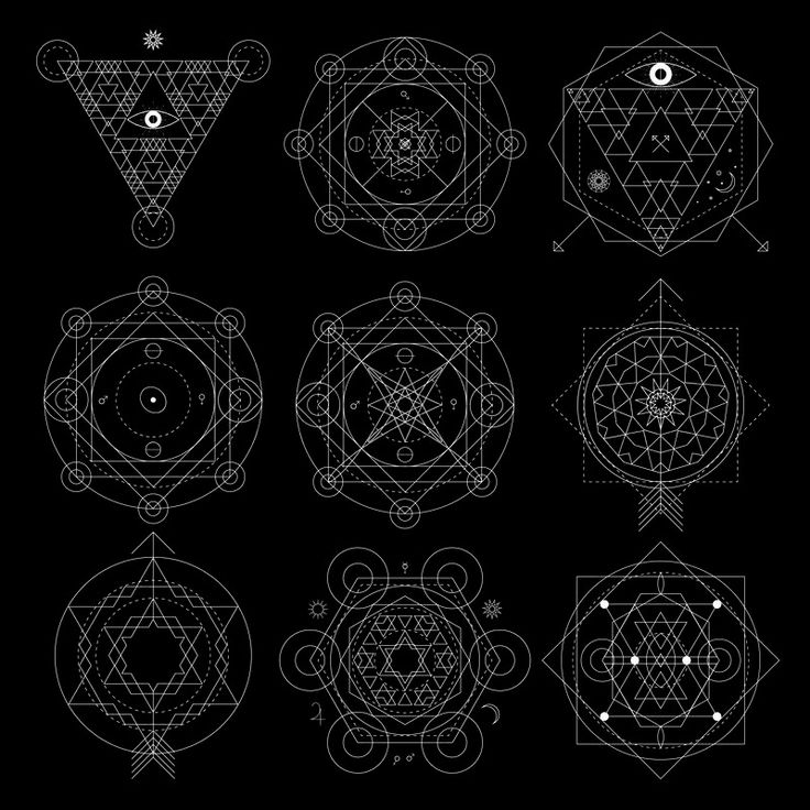 Mystical Geometry Vectors.