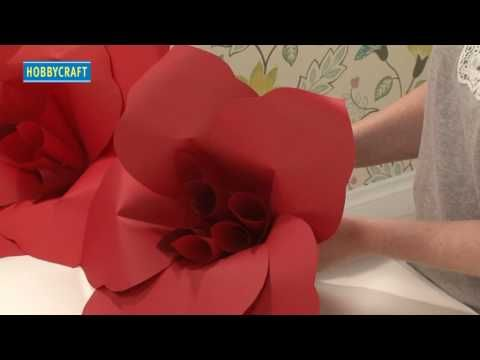 ▶ How To Make...Paper Flower Decorations - YouTube