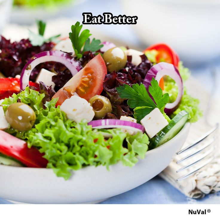 Eating a healthy salad is an easy and quick way to incorporate more veggies that are high in fiber, antioxidants, vitamins, and nutrients into your daily diet. www.nuval.com