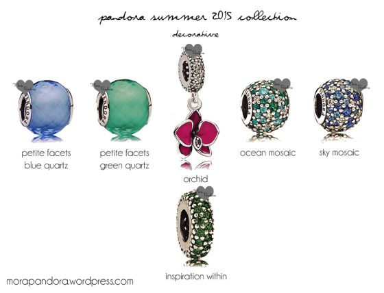 Pandora Summer 2015 decorative charms, featuring tropical blues and greens! <3