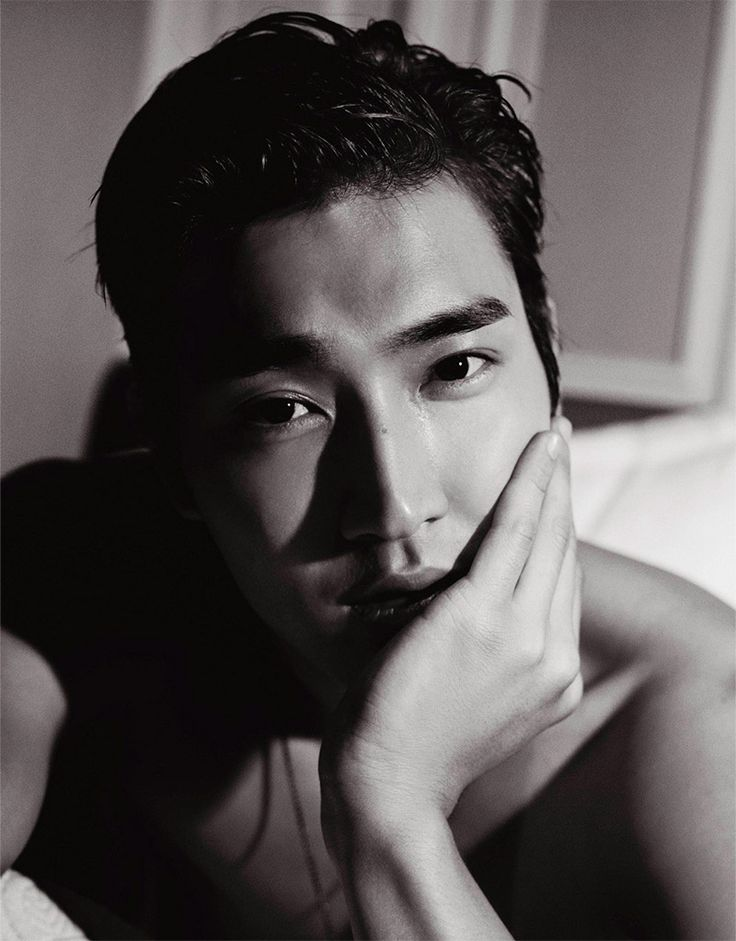 South Korean singer, actor and model Choi Si-won lensed by Karl Lagerfeld for the 27th issue of VMAN magazine.