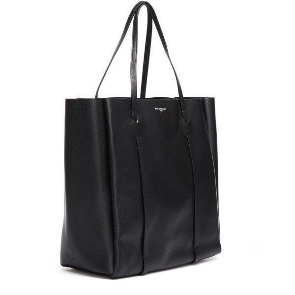 Balenciaga Everyday Tote L Bag ($1,130) ❤ liked on Polyvore featuring bags, handbags, tote bags, genuine leather purse, real leather tote, balenciaga tote bag, leather handbag tote and tote handbags
