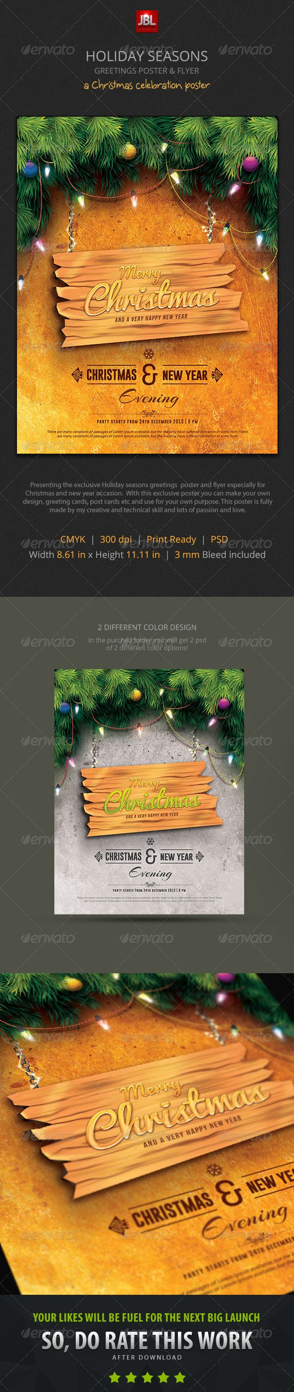 Holiday Seasons Greetings Poster and Flyer