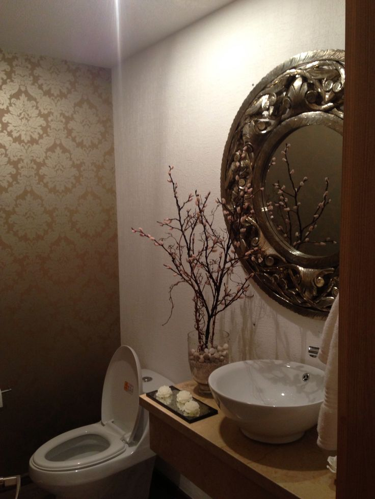 Medio ba o bathroom decor pinterest for Adornos bano