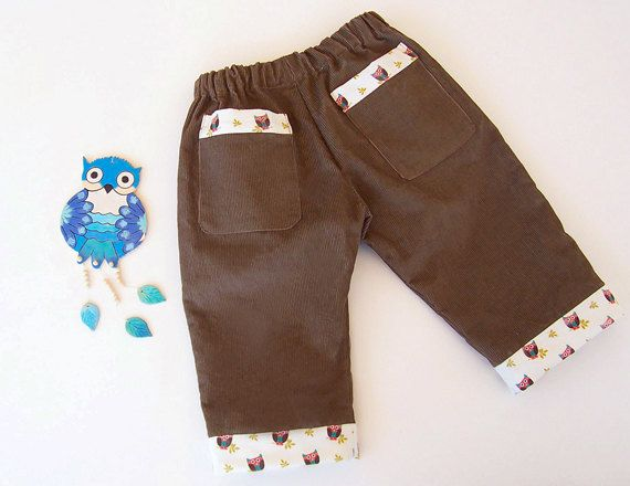 The OWL Baby Boy Girl PANTS sewing pattern PDF, Easy simple, children toddler babies, 6 9 12 18 months and 1, 2 years. $4.50, via Etsy.