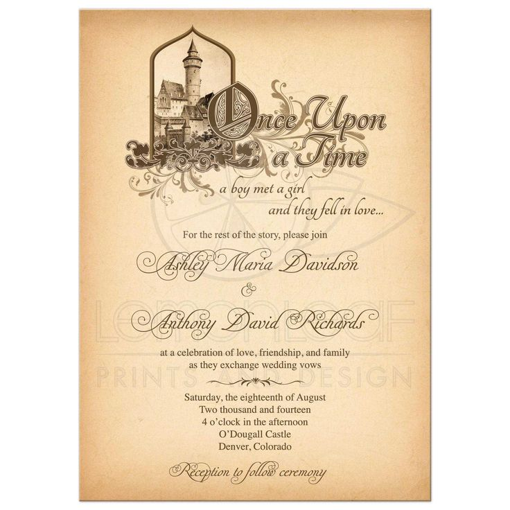 28 Best Medieval Wedding Invitations Images On Pinterest: Fairy Tale Wedding Invitation Medieval Castle Once Upon A