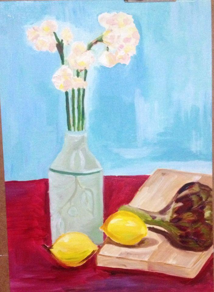 Jonquils, artichoke and lemons