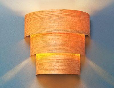 7 wood veneer strips 9 amazing diy sconces lifestyle for Wood veneer craft projects
