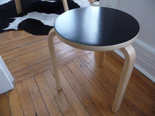 IKEA's Frosta stool, a $12.99 version of an original Alvar Aalto design, is by now known to most as an affordable and versatile seating/side table option. It comes in a clear lacquered birch veneer and is simply begging for a little customization...