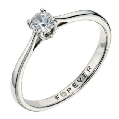 The Forever Diamond Palladium 950 1/4 Carat Diamond Ring- H. Samuel the Jeweller