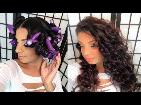 Flexi Rod Set On Blown Out Straight Natural Hair Tutorial