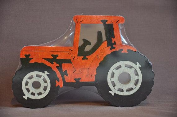 Étui à Orange Farm ou tracteur Kubota coupé à la main par Puzzimals