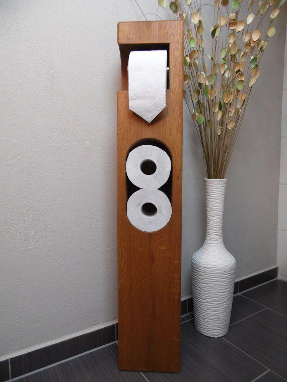 toilet roll holder wooden oak basements toilet and woods. Black Bedroom Furniture Sets. Home Design Ideas