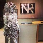 Designer Rachel Wilson's design at the News and Record #goodwillrtr #Newsprint #Dress #FashionShow