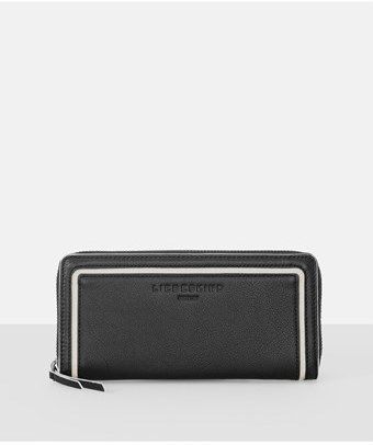 Liebeskind Berlin Sallys7 Contrast Trim Leather Zip Wallet.