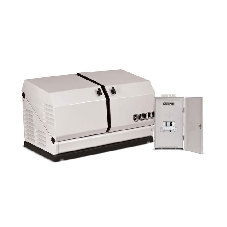 8,500-Watt Air Cooled Standby Generator with 50 Amp Nema 3 and 10 Circuit Transfer Switch